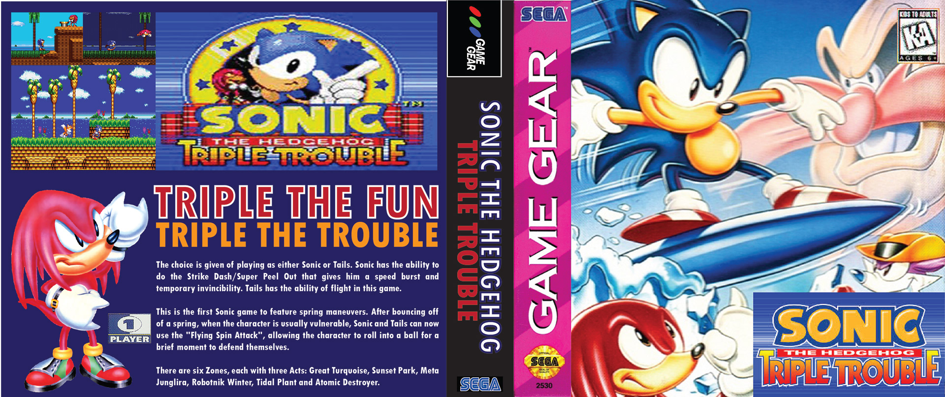 Sam Z Designs Sonic The Hedgehog Classic Game Covers