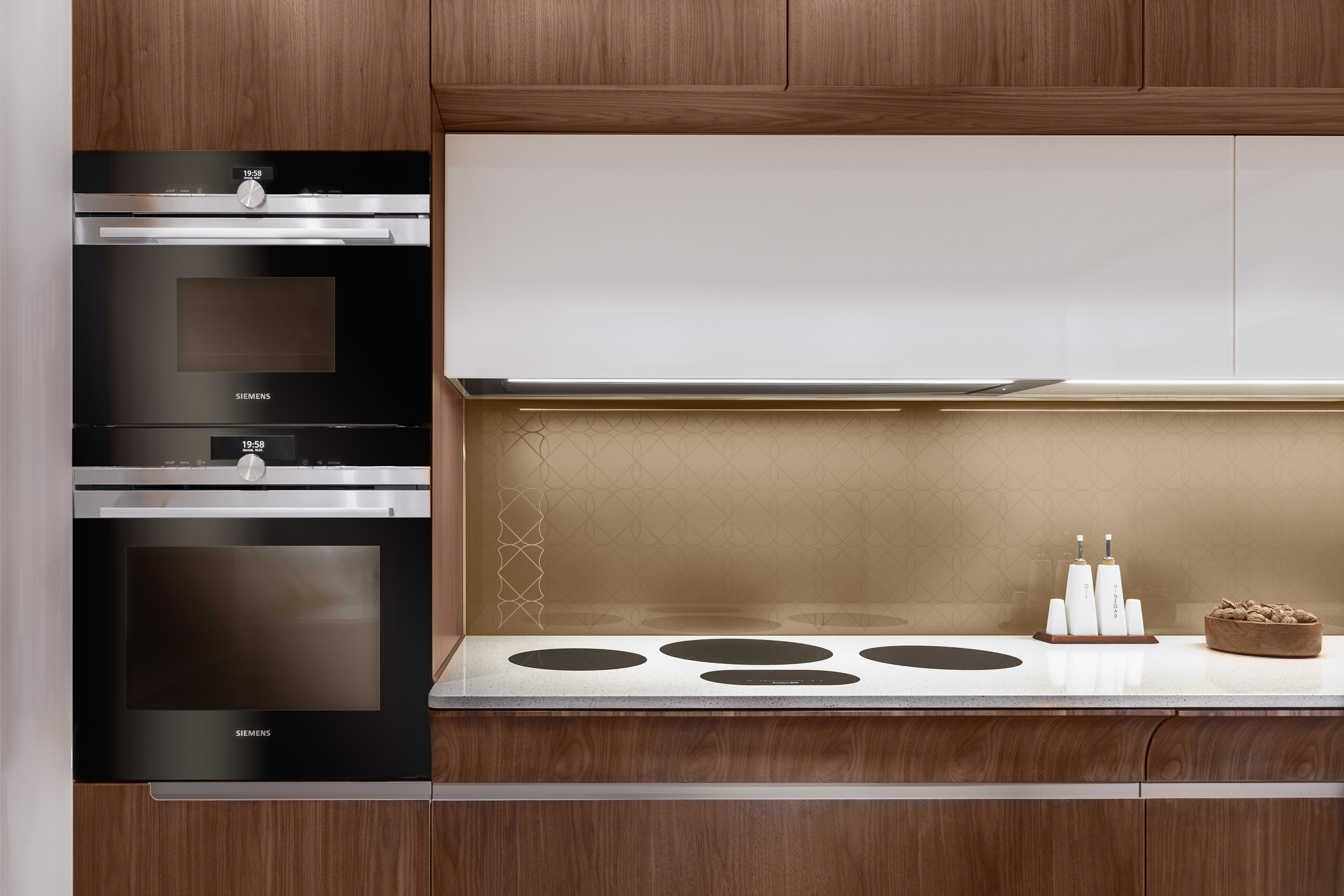 Walnut veneer kitchen