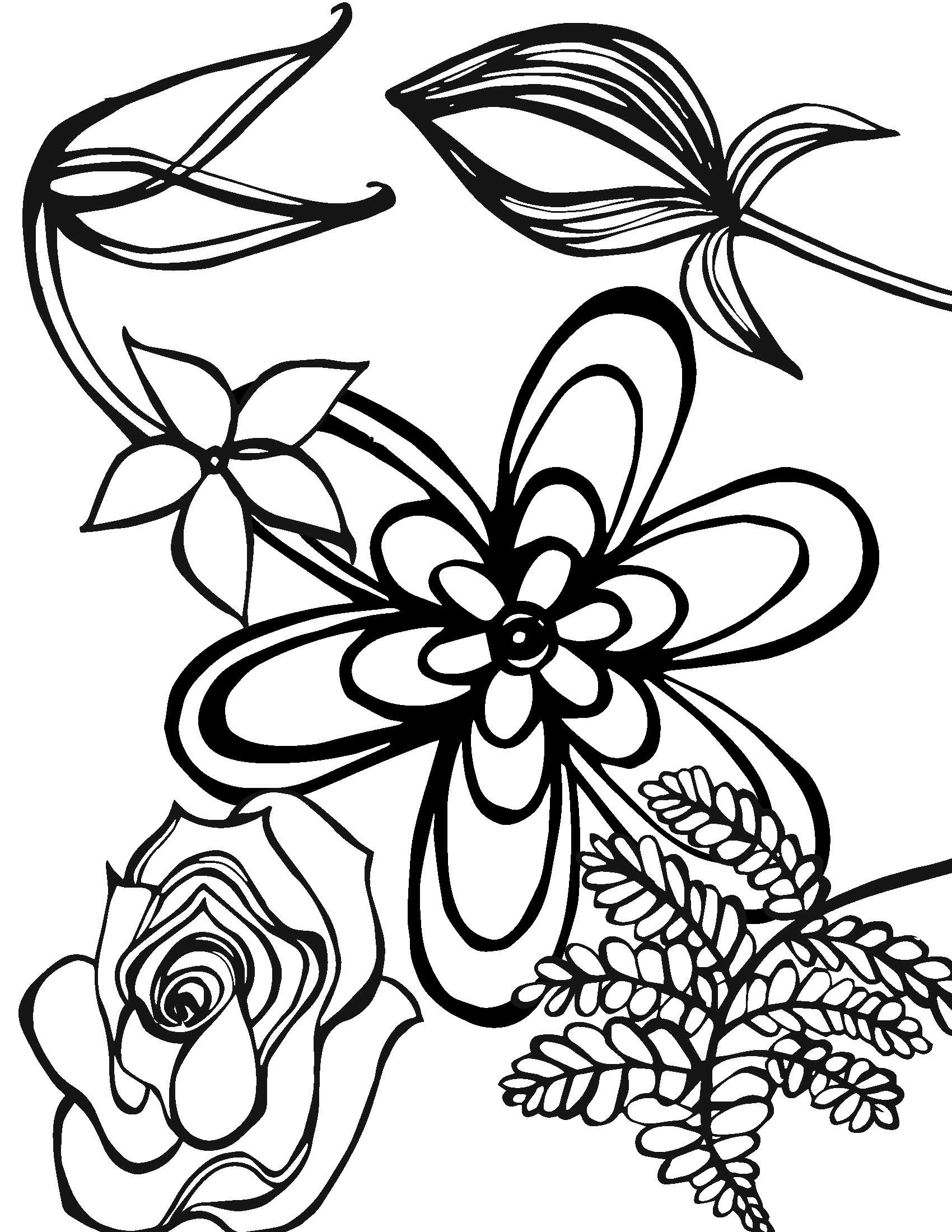 Mary Ball - Floral Coloring Book