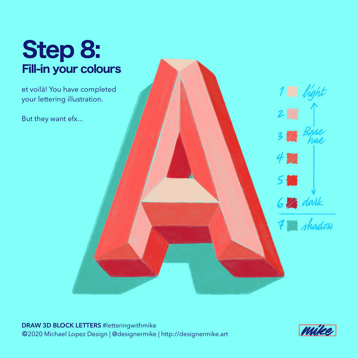 Designer Mike Lettering Art And Design How To Draw 3d Block Letters