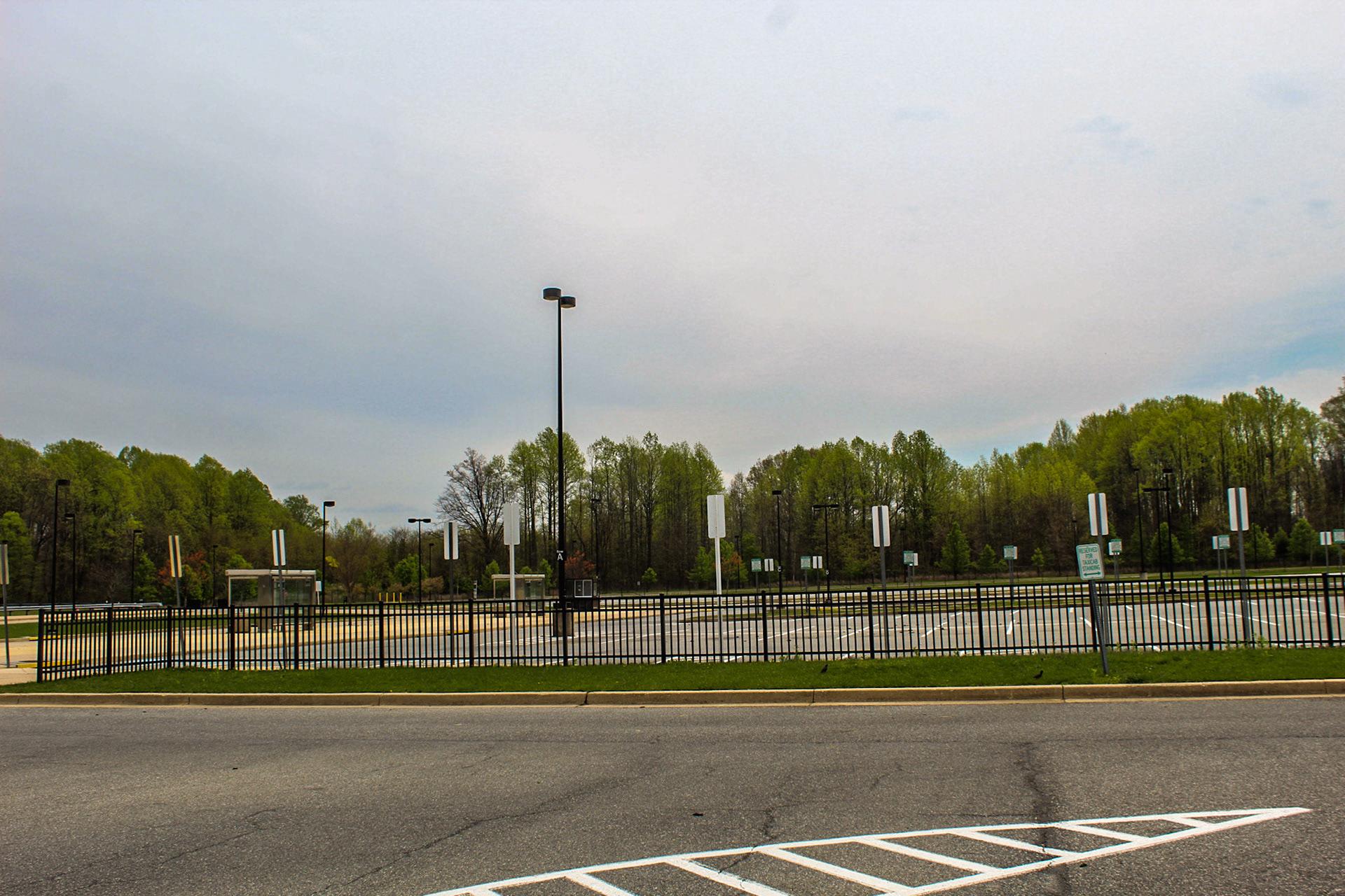 Deserted Parking Lot at Morgan Metro Station - April 6
