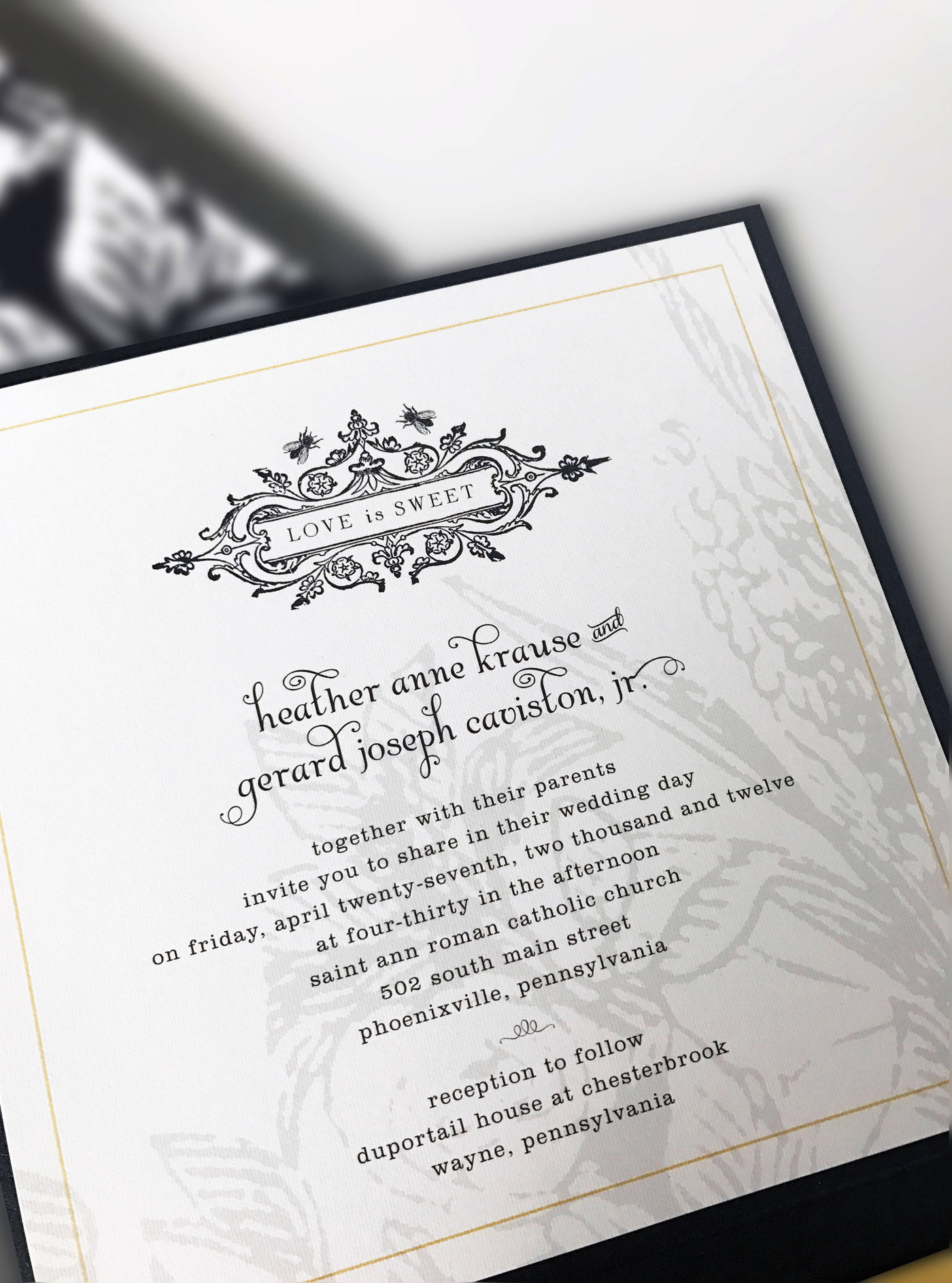 Heather Caviston - Cavistons | wedding invitation