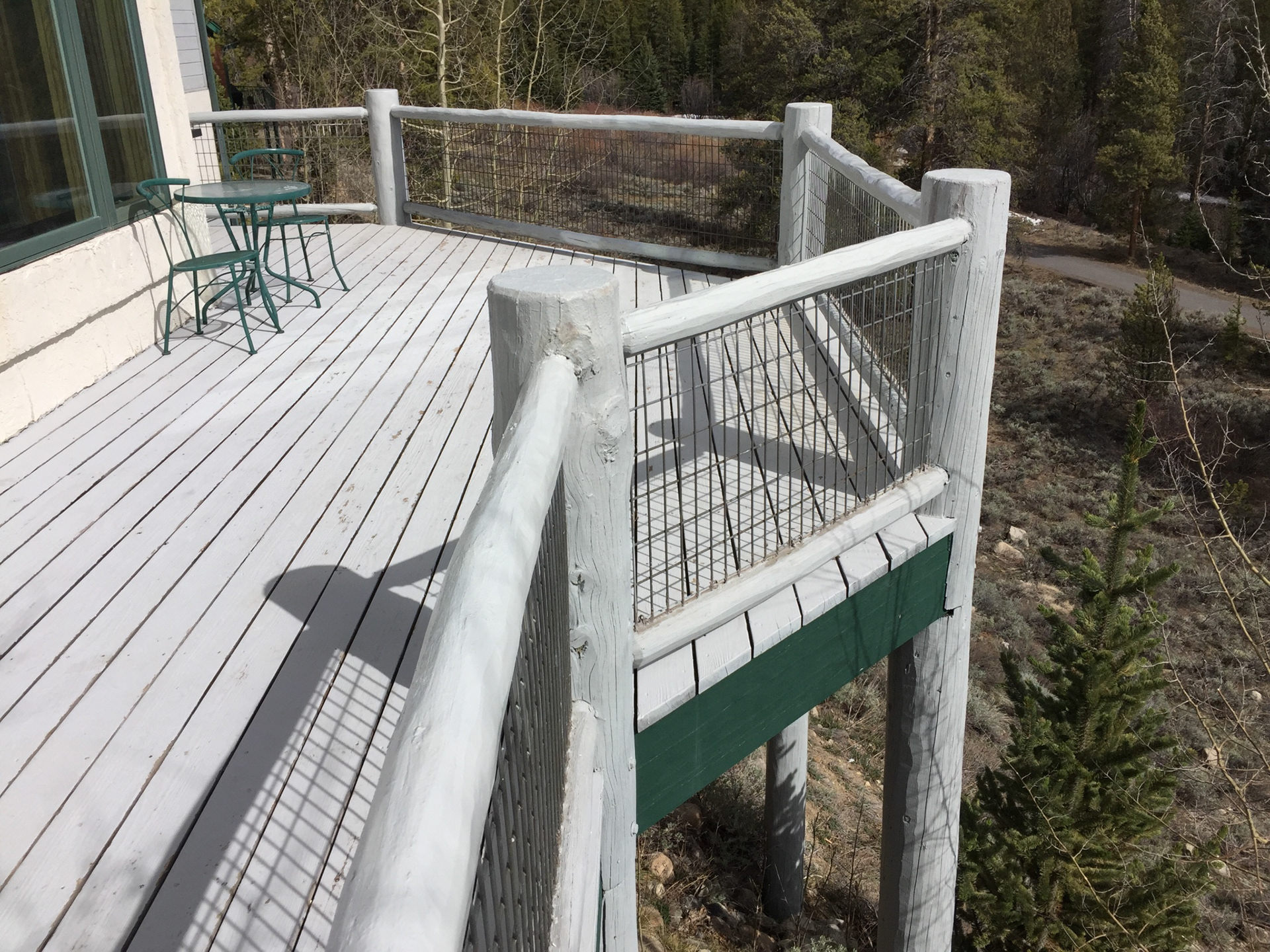 Log Railings Colorado ~ Log home restoration colorado railing repair deck
