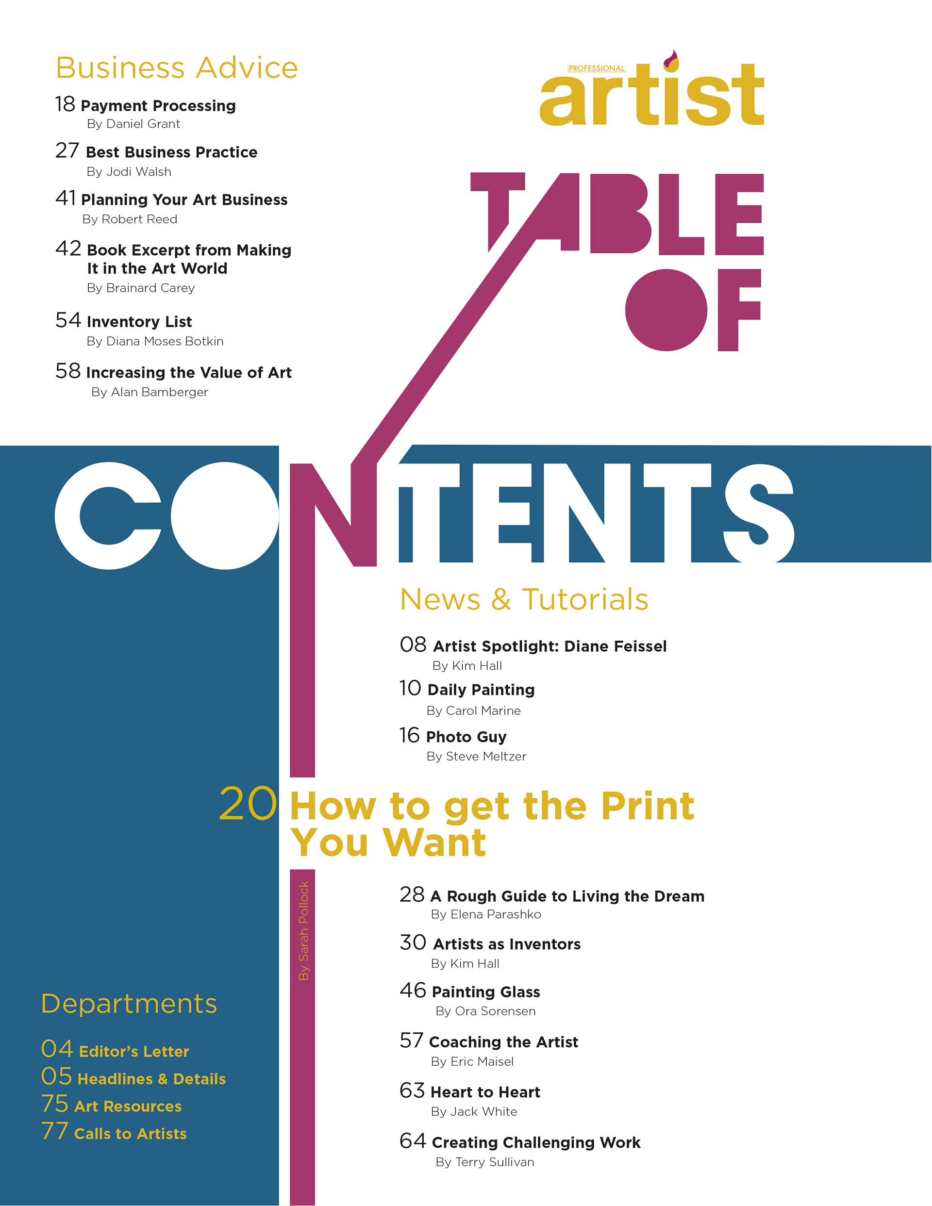 Sarah Bales Redesign Magazine Editorialcovertable Of Contents