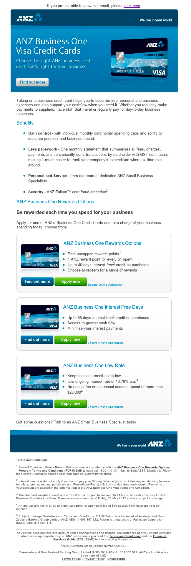 Martyn miller anz business credit cards anz business credit card digital campaign launch 2012 reheart