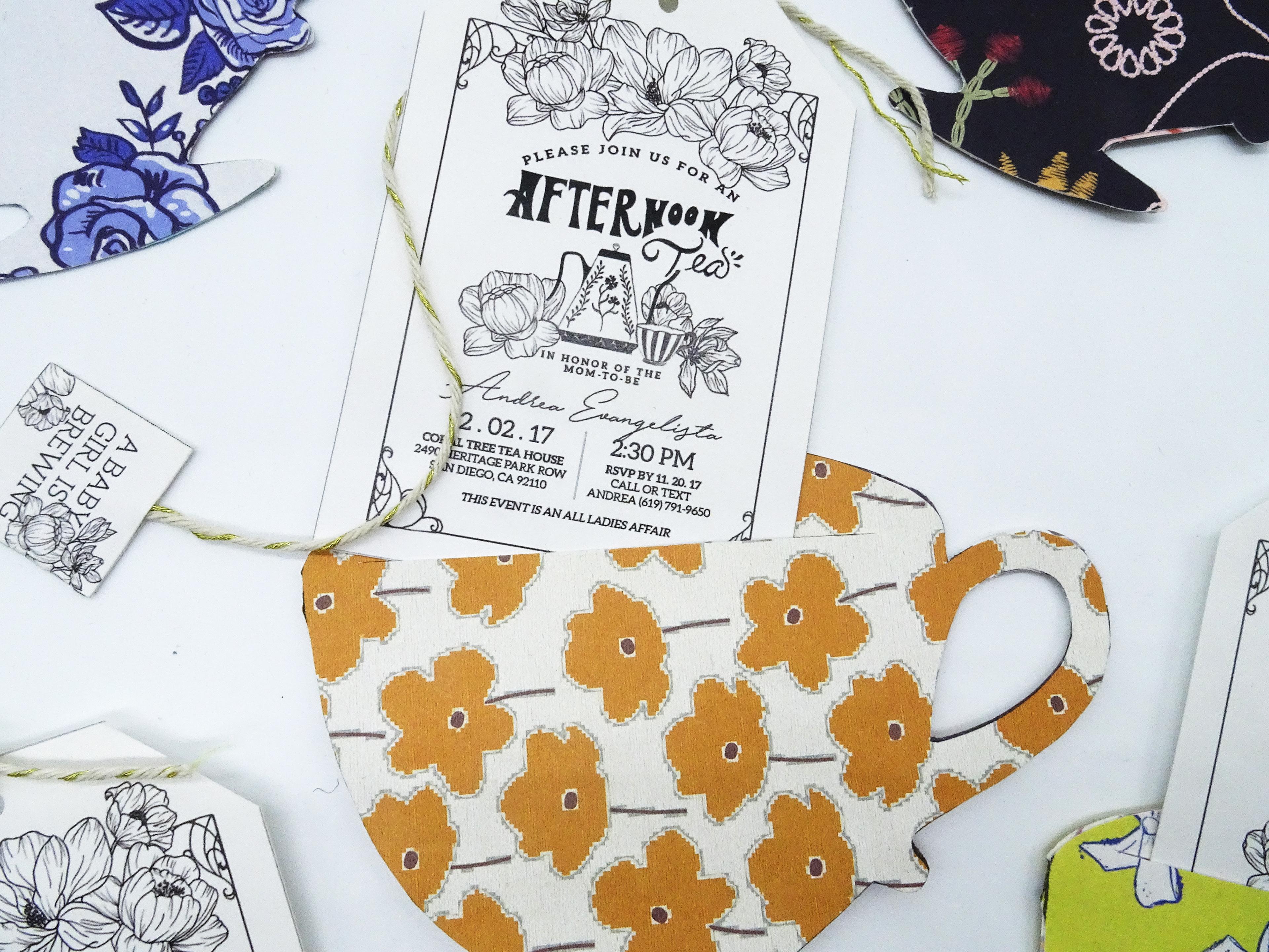 Andrea Evangelista - Tea Party Baby Shower Invitation