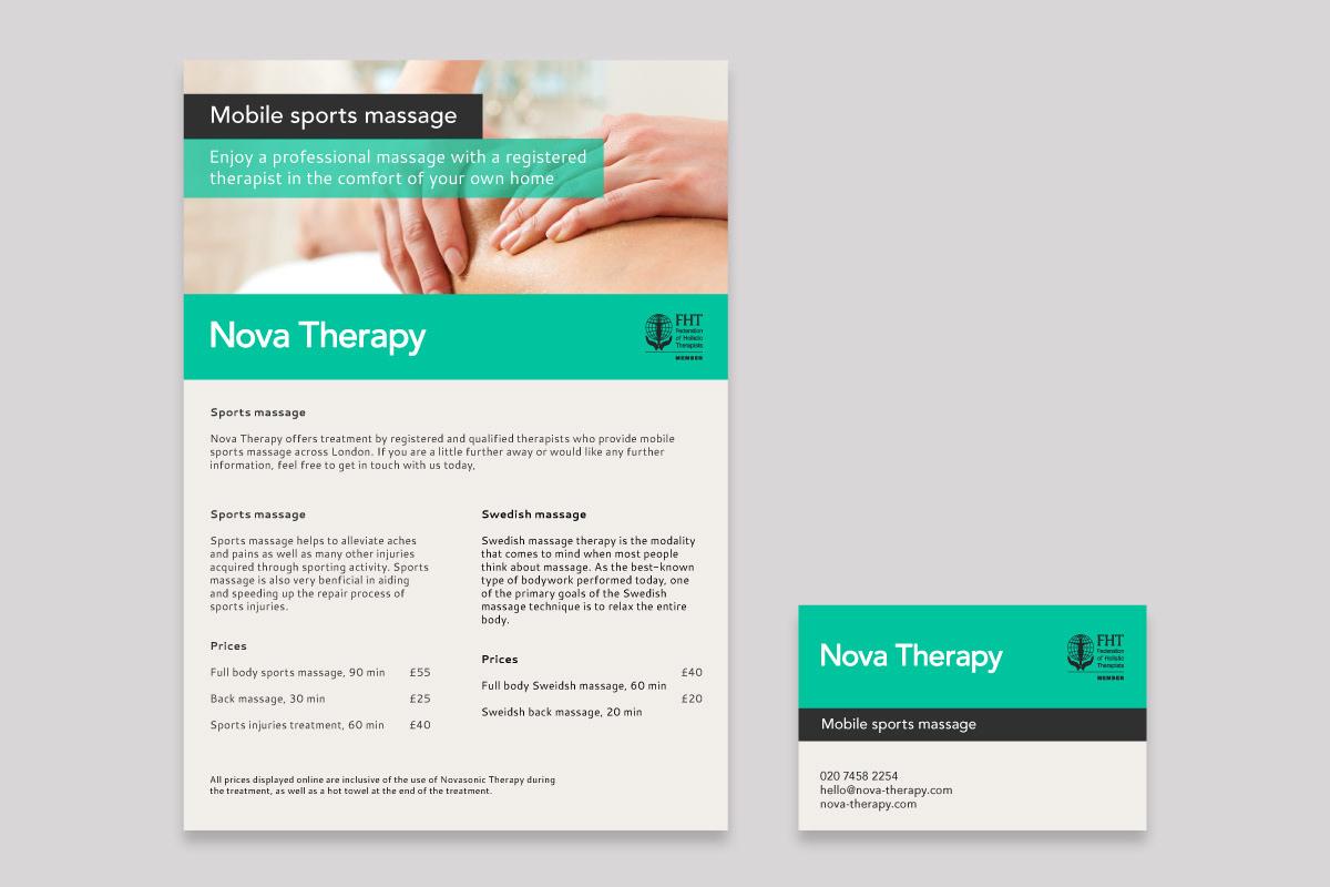 Daniel Eris - Graphic and web design - Nova Therapy