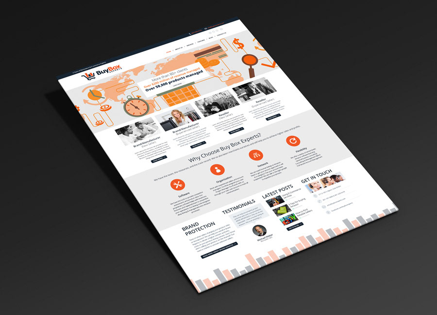 Esteban oliva web design business card web design business card the buy box company applies decades of e commerce experience to successfully manage their clients marketplace accounts colourmoves