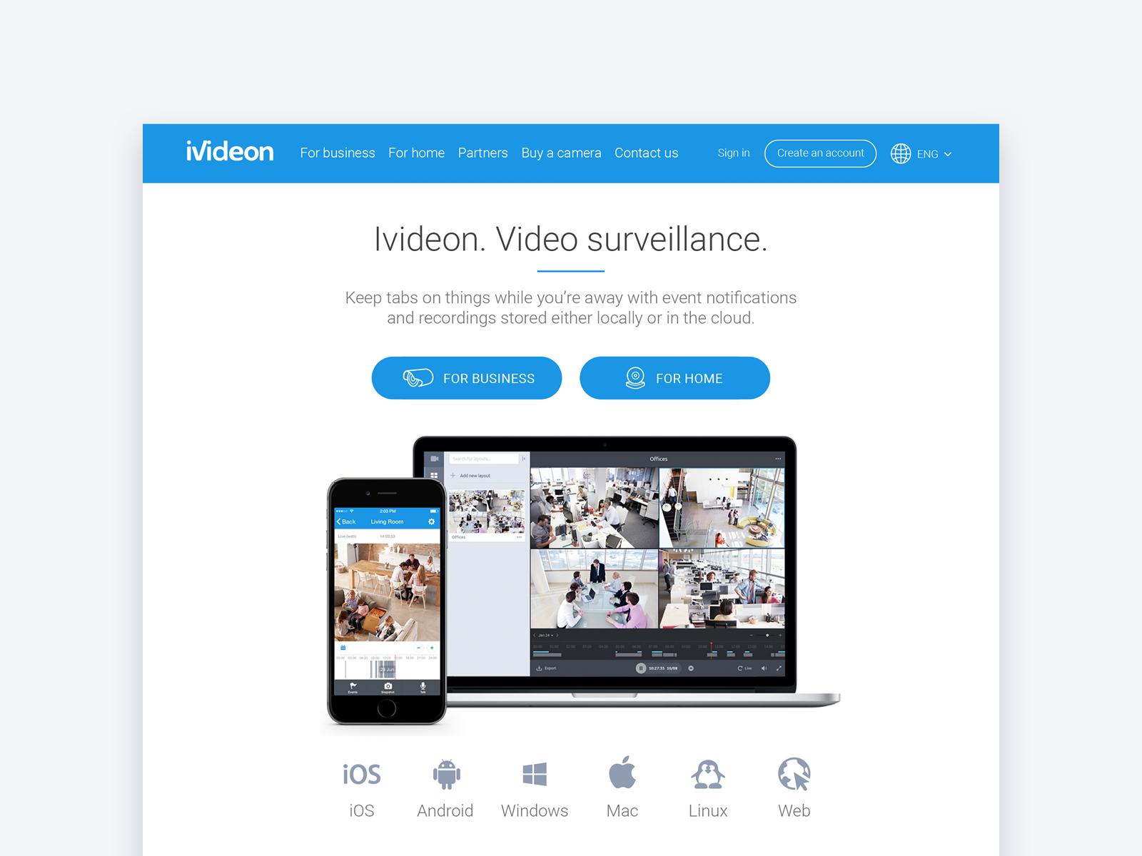 Maria Babak – Product Designer - Ivideon Website