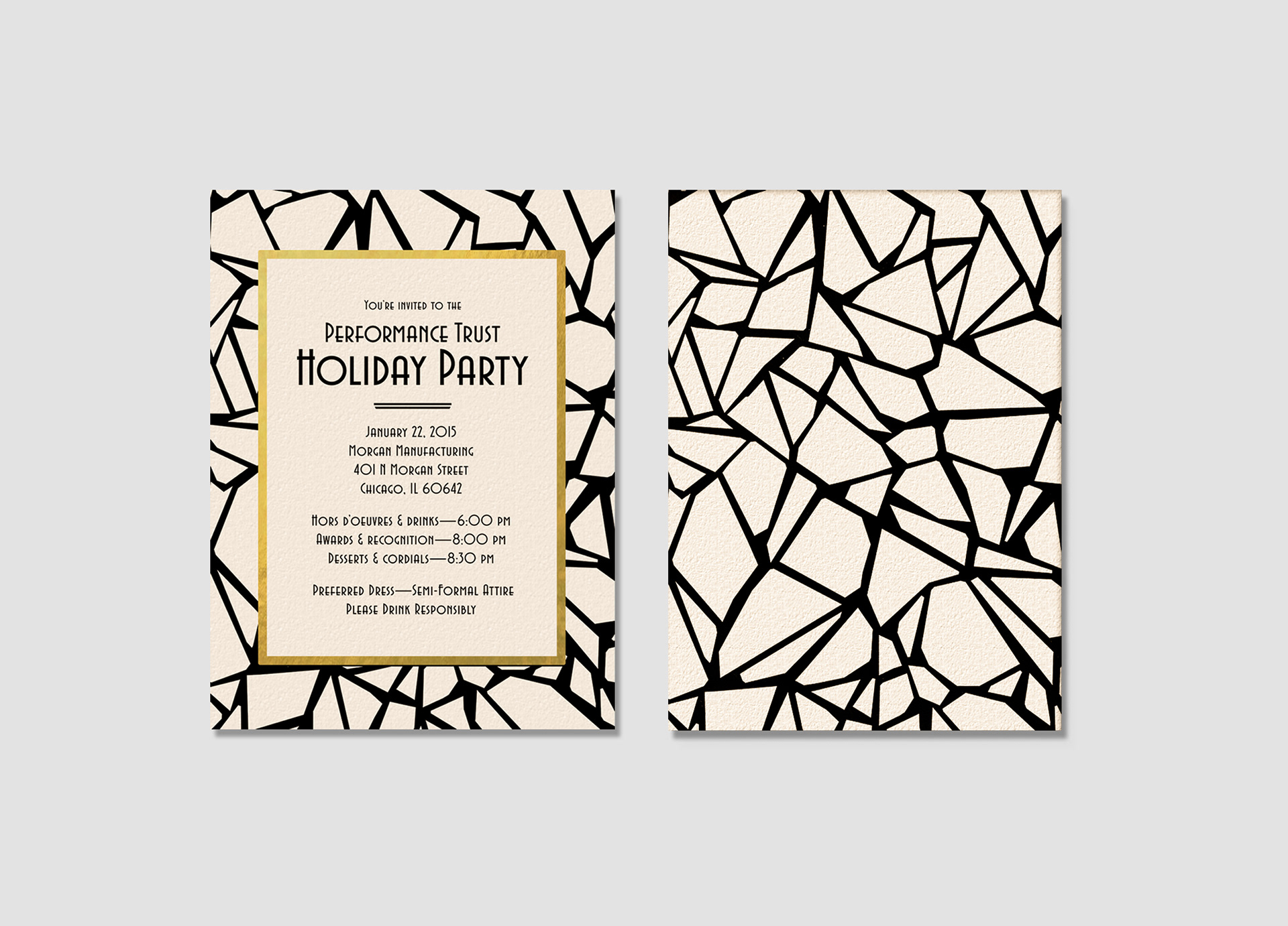 Julia Joseph Designs - PT Holiday Party Invitations