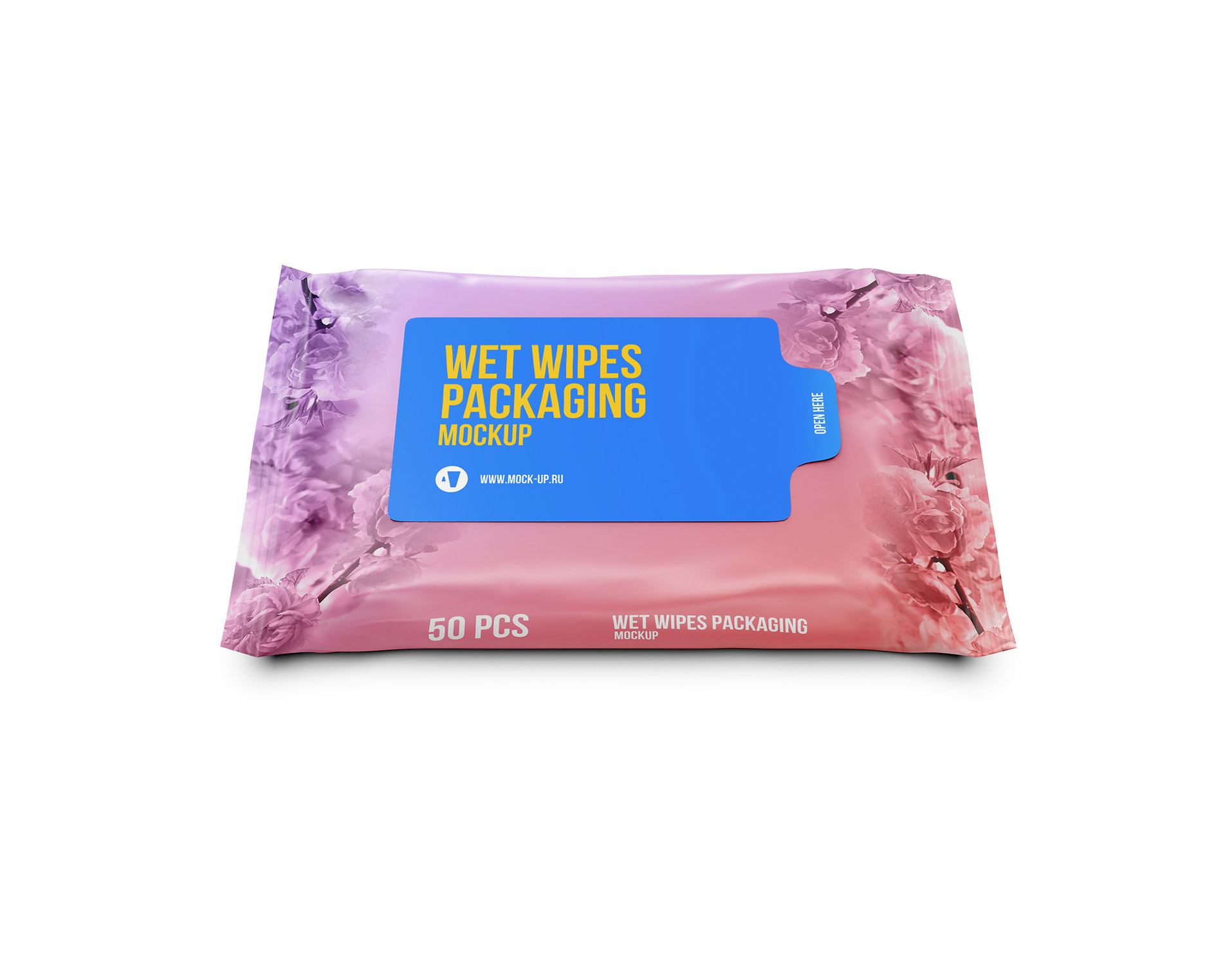 Exclusive Product Mockups Wet Wipes Half Side View Mockup