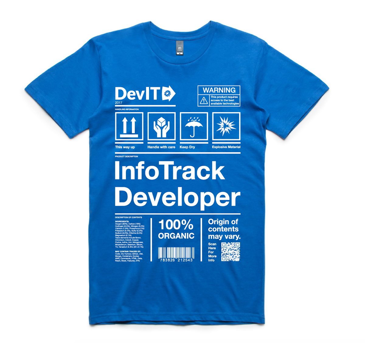 Andrew Evans // uxdesignmonster - InfoTrack Developer Shirt Design