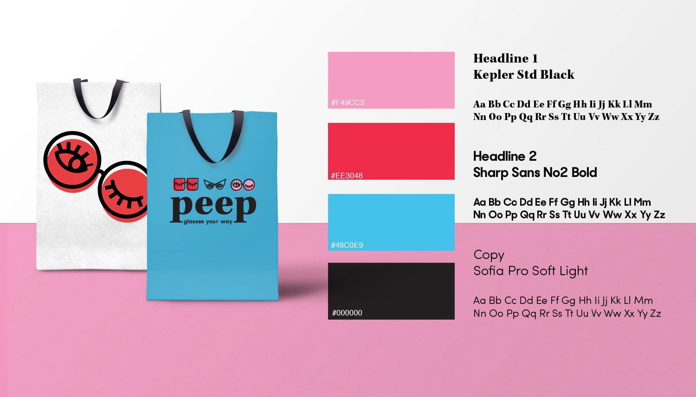 7abdeb0c5f Branding for online sunglasses company Peep.