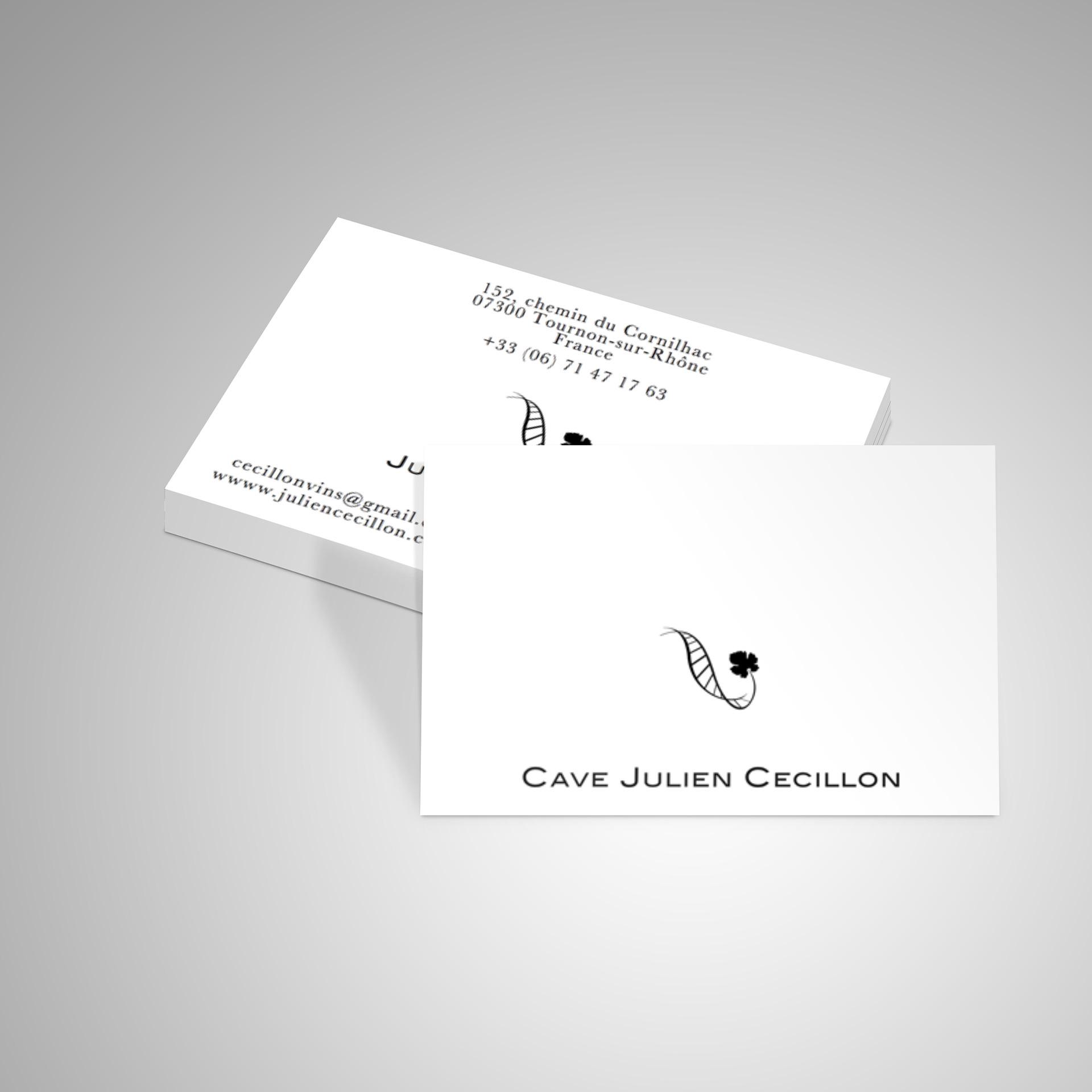Branding Julien Cecillon Viticulteur Cartes De Visite Cartons Bouteilles Et Polos