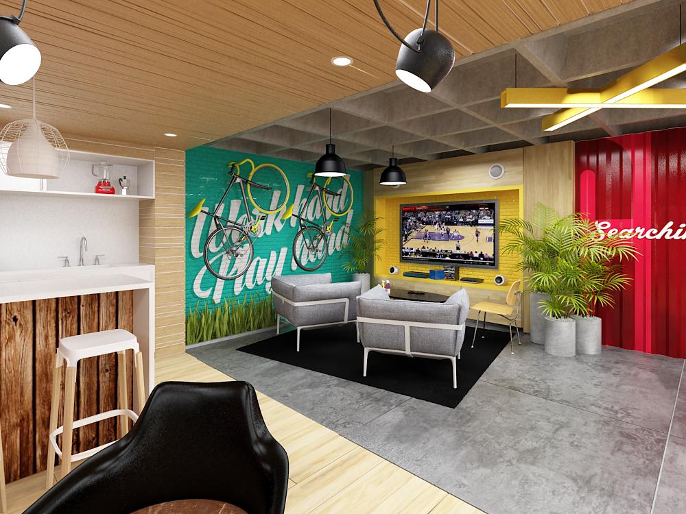 Plasma nodo cj martins dise o oficinas for Decoracion de interiores para oficinas