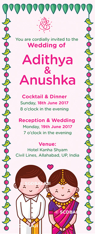Quirky creative indian wedding invitations tamil nadu wedding card 350 gsm board glossy lamination stopboris Choice Image