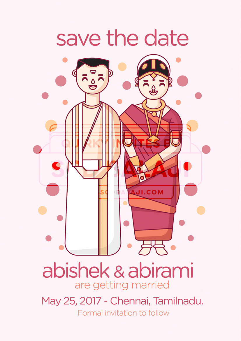 SCD Balaji - Quirky & Creative Indian Wedding Invitations - Tamil ...