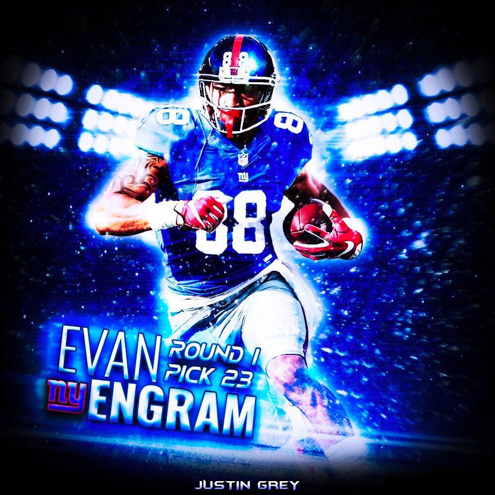 best service a9c47 e9b26 Justin Grey - Evan Engram Jersey Swap Poster