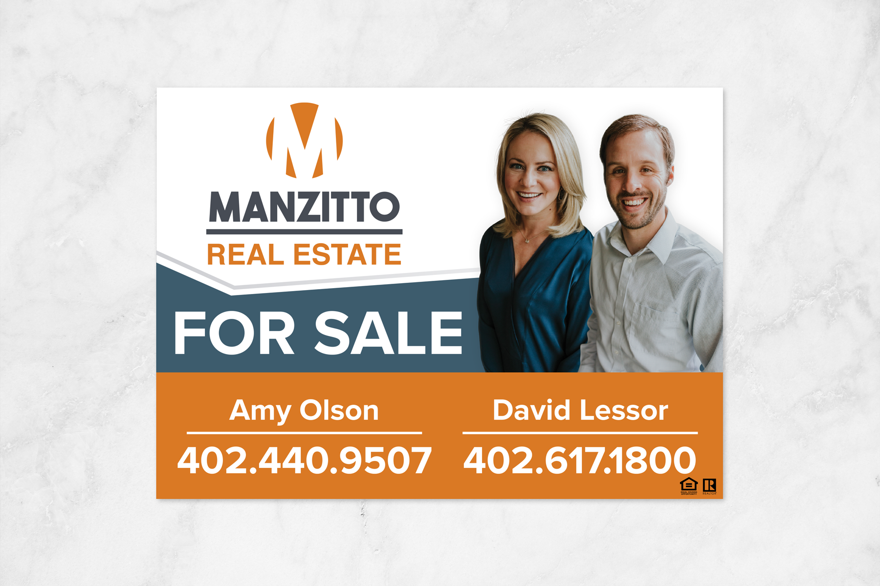 Claire crawford manzitto business cards and yard signs manzitto construction and real estate strive to establish the finest homes businesses and neighborhoods while generating long term relationships with our reheart Images