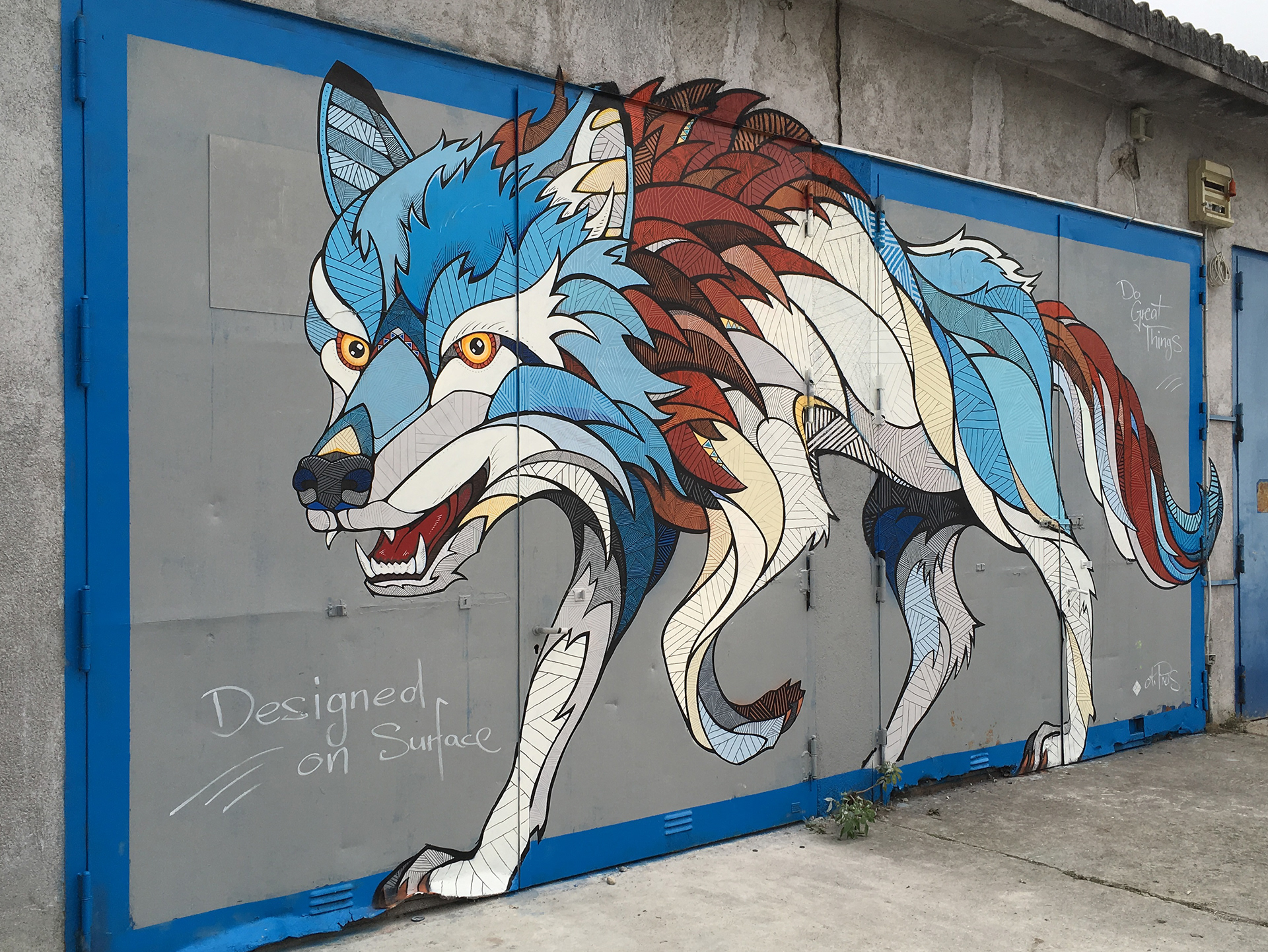 Andreas preis microsoft mural wolf for Alex cherry eagles become wall mural