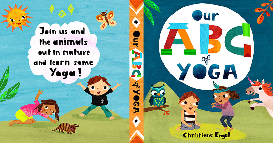 Christiane engel illustration portfolio childrens books abc yoga join us and the animals out in nature and learn some yoga altavistaventures Images