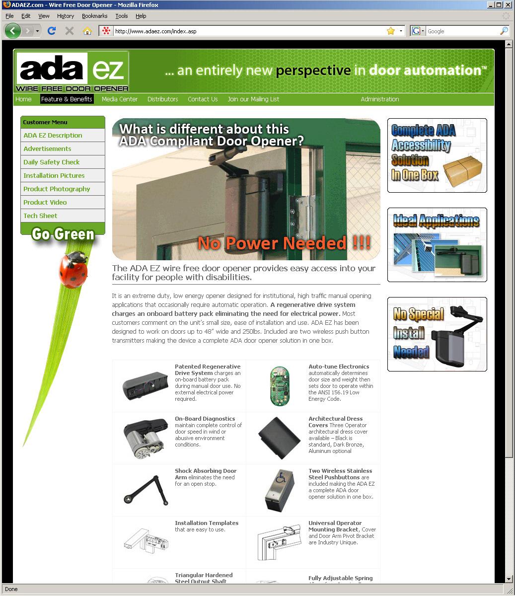 Nick Gugliotti - ADAEZ Wire Free Door Opener Website