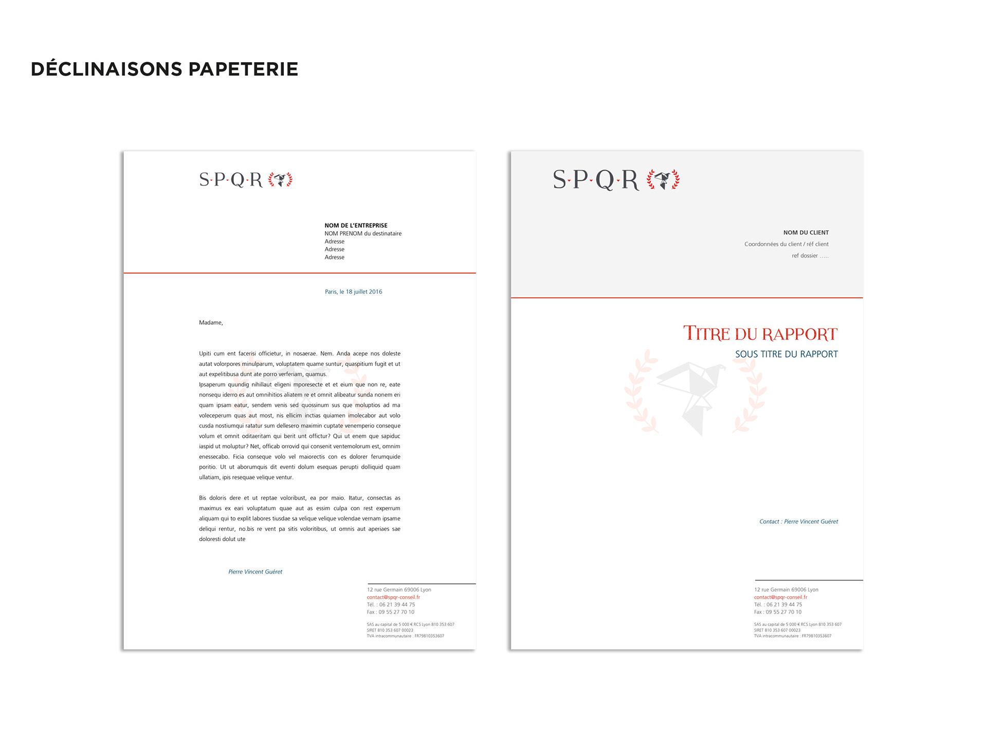 Creation Du Logo Et Des Differentes Declinaisons Cartes De Visite Courrier Rapport