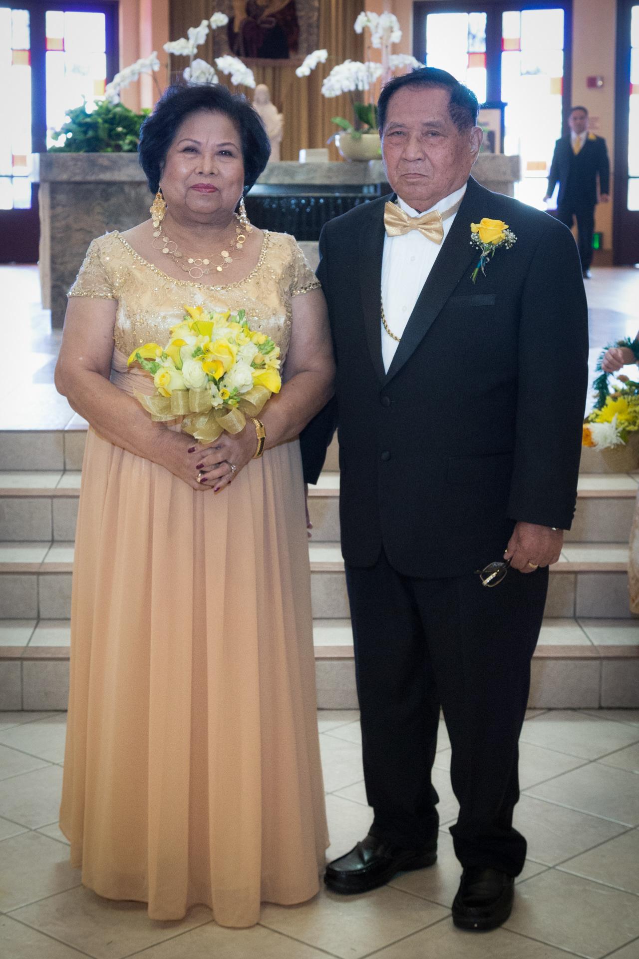 Anastacia Genaro Elguira 50th Wedding Anniversary April 23 2016 St Philomena Church Double Tree By Hilton Hotel
