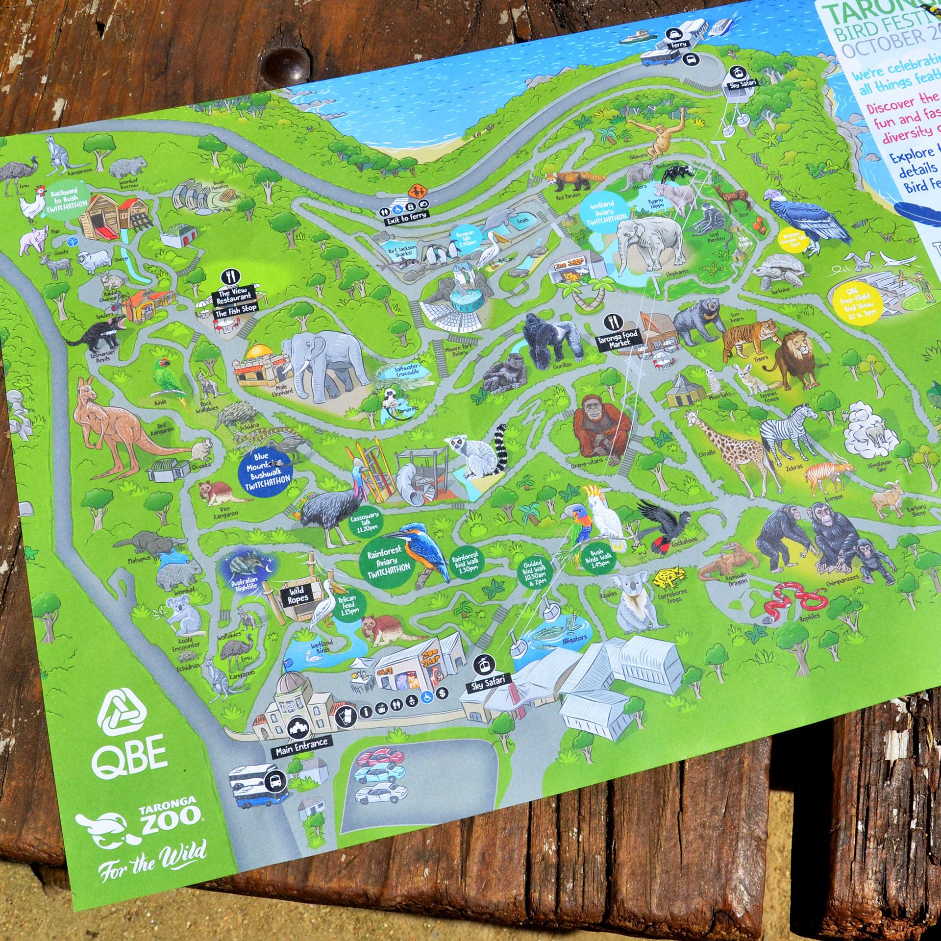 Taronga Zoo Map Fangaroo   Zoo Map