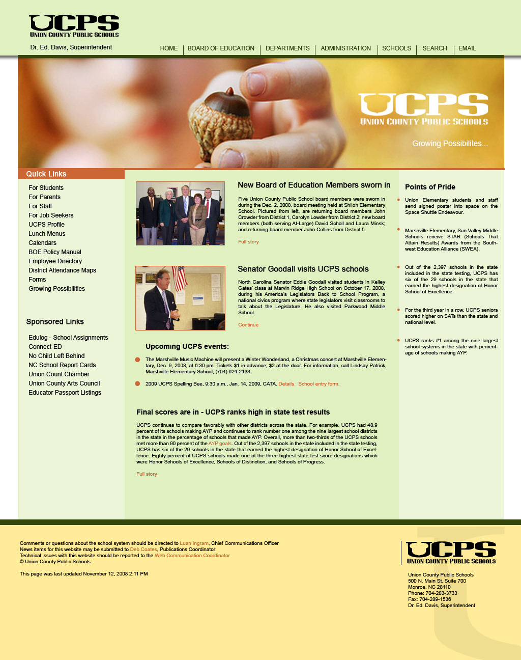 Arthur Rogers - UCPS Website Design