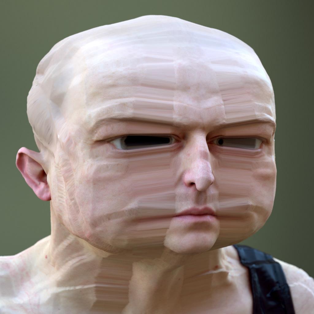 deformed face man - 700×700