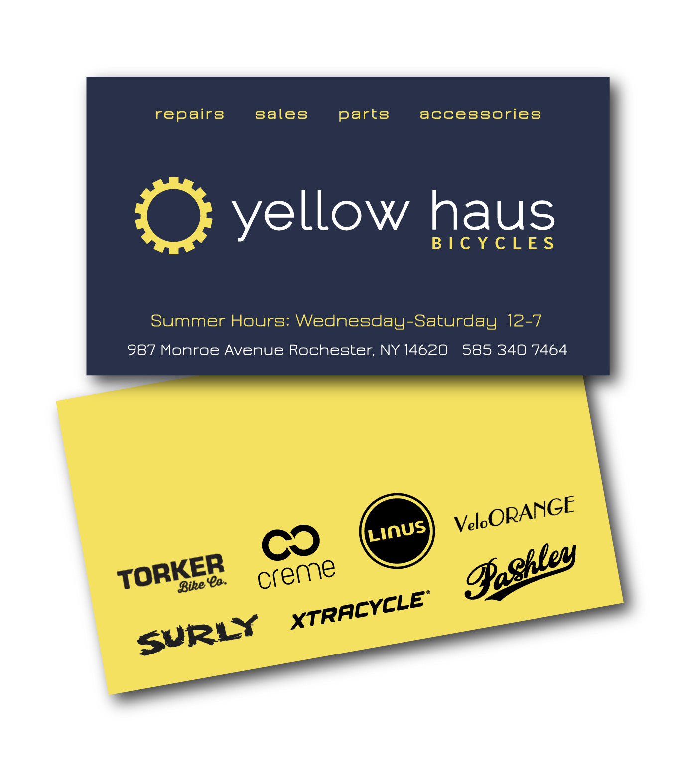 Heidi Wirth - Yellow Haus Bicycles [business card]