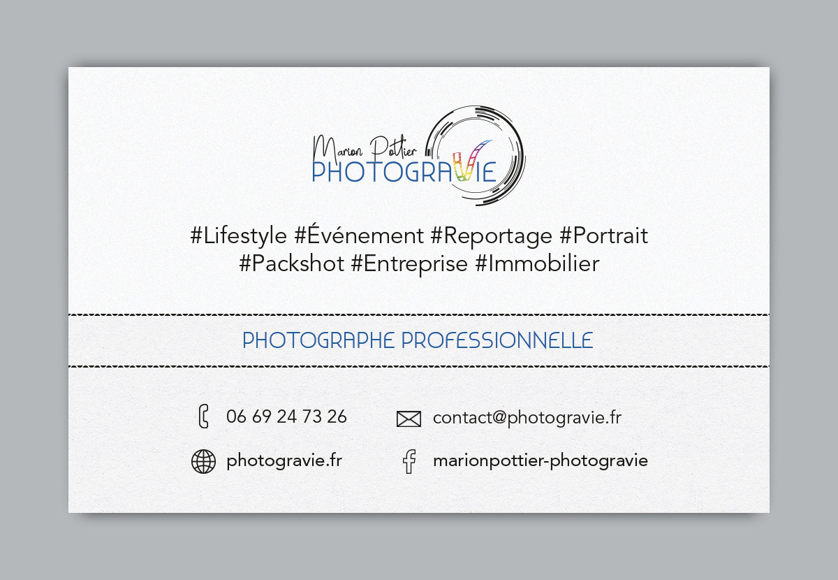 Logo Carte De Visite Photogravie