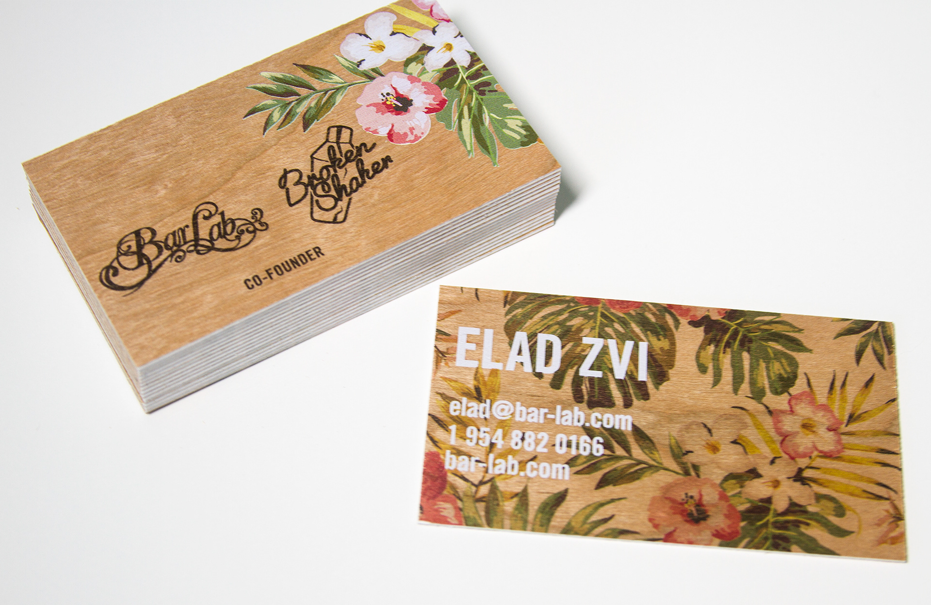 Experiential events brand activation 360 campaigns digital business cards printed on wood using white ink overlay and underlay double mounted reheart Choice Image