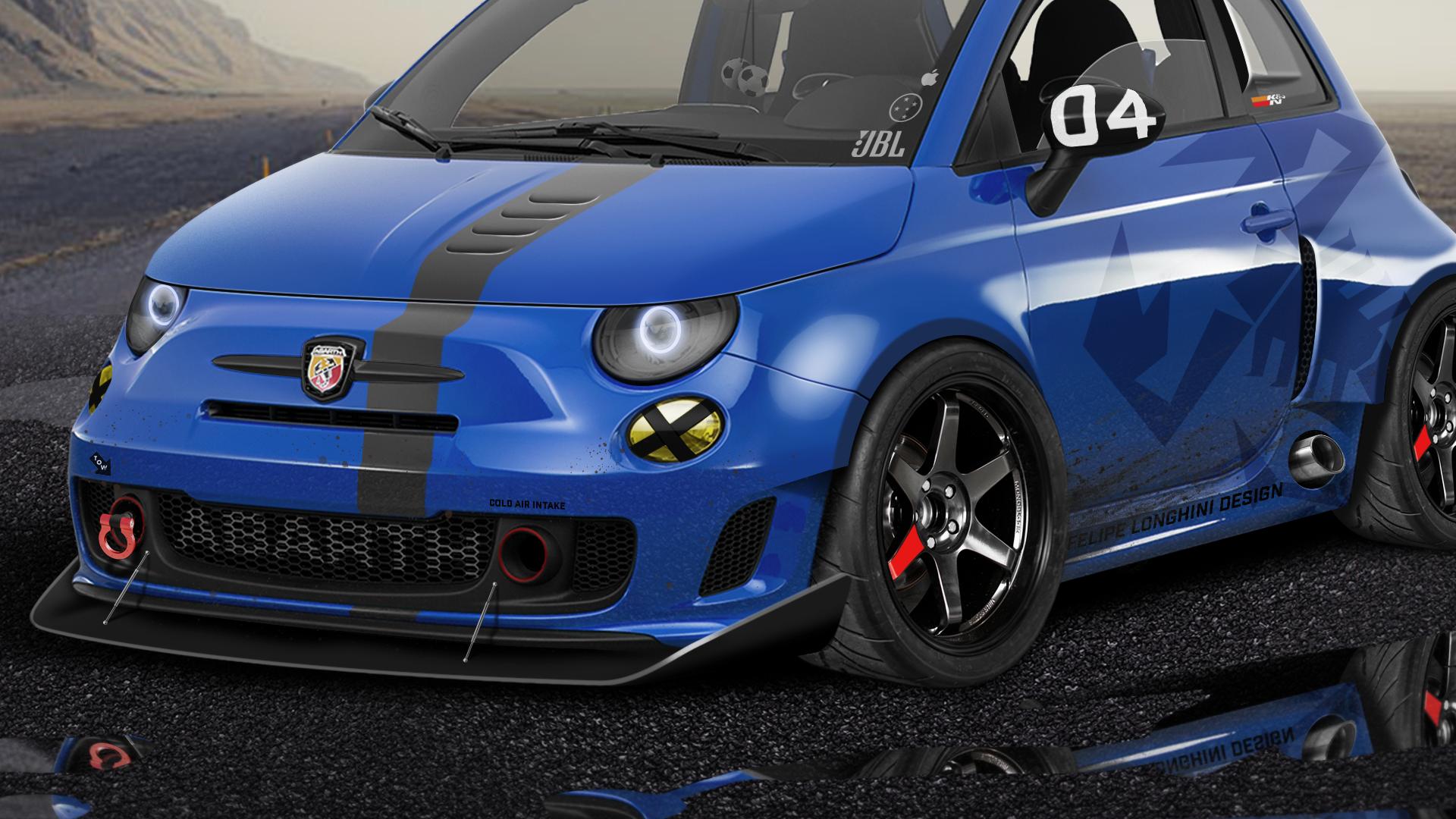 Make A Car >> felipe longhini - Blue Fiat 500 Abarth
