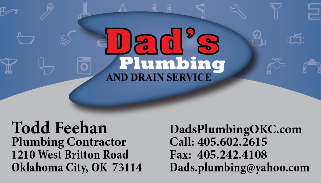 Ritzendollar Design - Dad\'s Plumbing Business Card