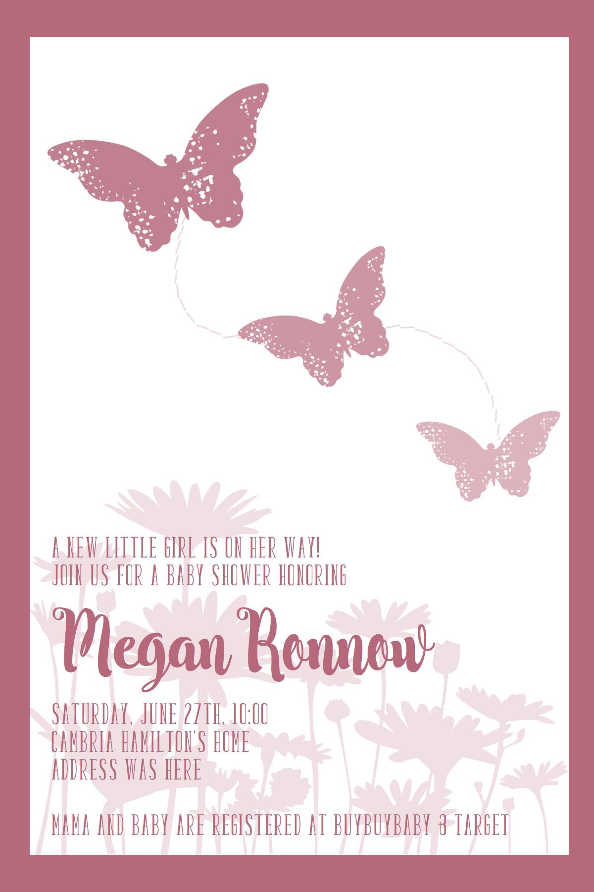 Camille Creates - Butterfly Invitation