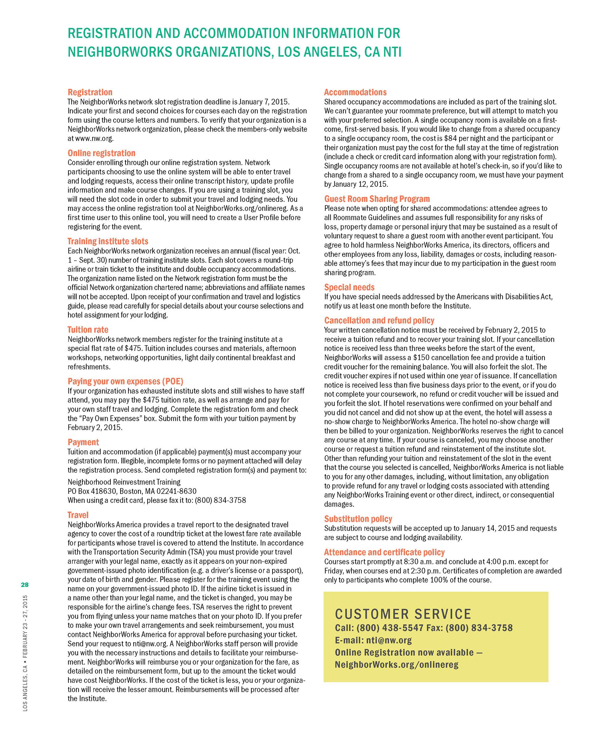 Design powers neighborworks training institute brochure la 2015 nw training institute brochure for los angeles event xflitez Choice Image