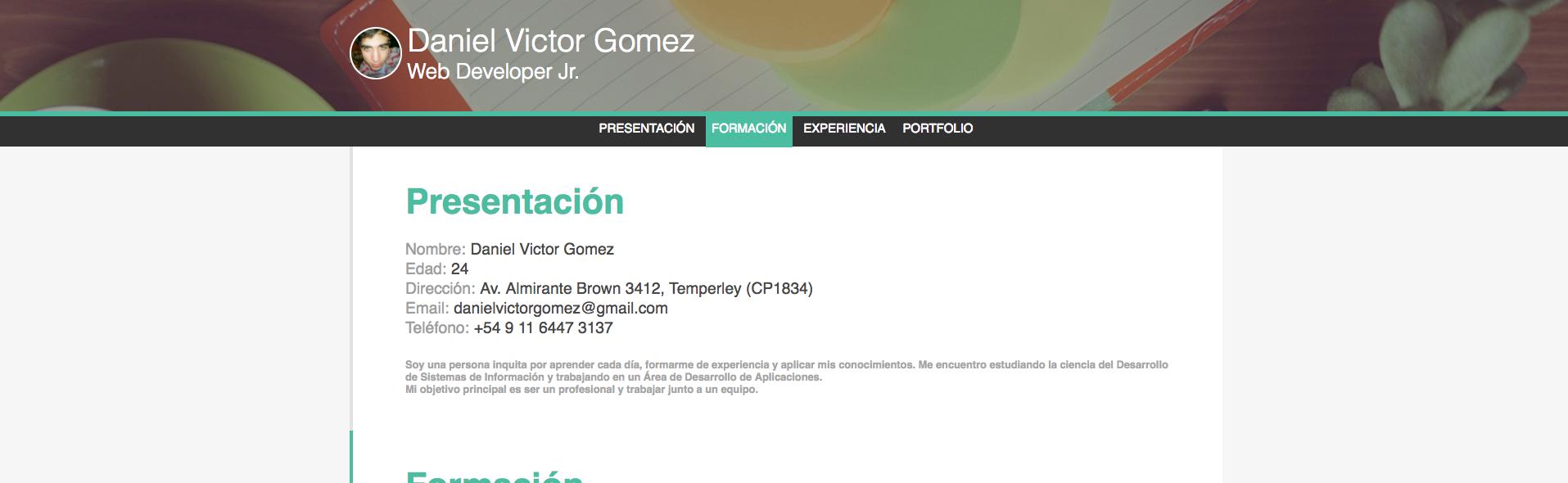Acamica - Daniel Gomez - CV Online