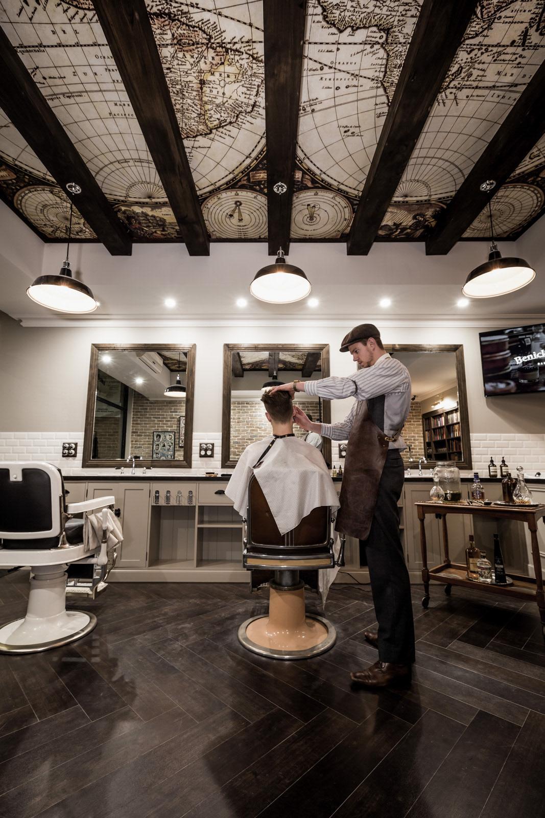Daniel malik design portfolio barbershop design - Barber vs hair salon ...