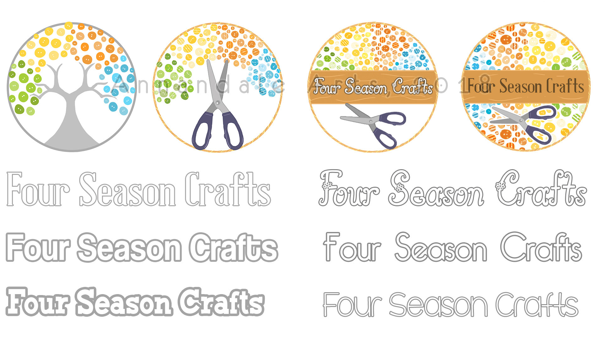 Gillian Annandale Brand Logo Design Four Season Crafts