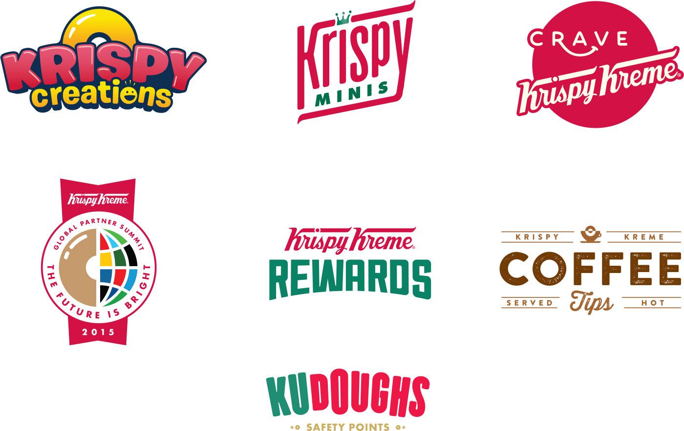 Keats Pierce - Krispy Kreme various logos
