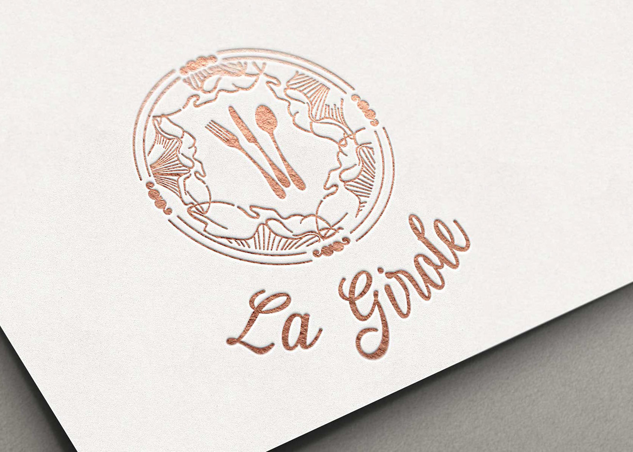 loolye labat graphiste webdesigner logo restaurant gastronomique la girole grenoble. Black Bedroom Furniture Sets. Home Design Ideas