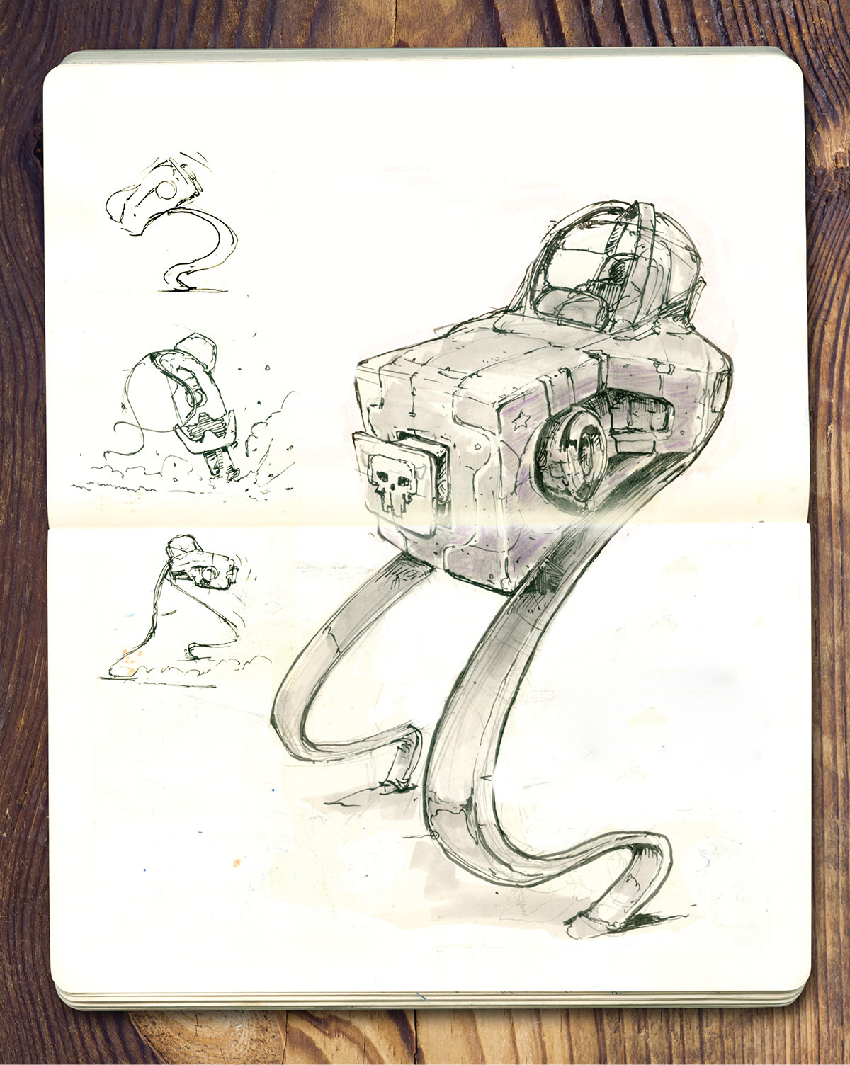 sebastian komorowski hand drawn concept sketches