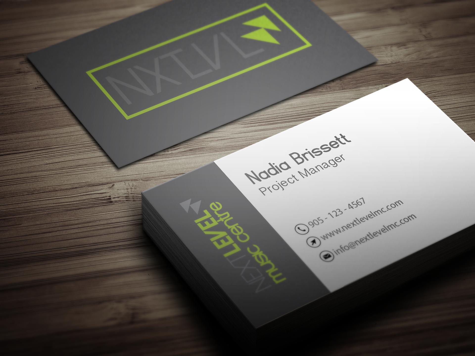 Brii creative portfolio professional music school business cards the final design colourmoves