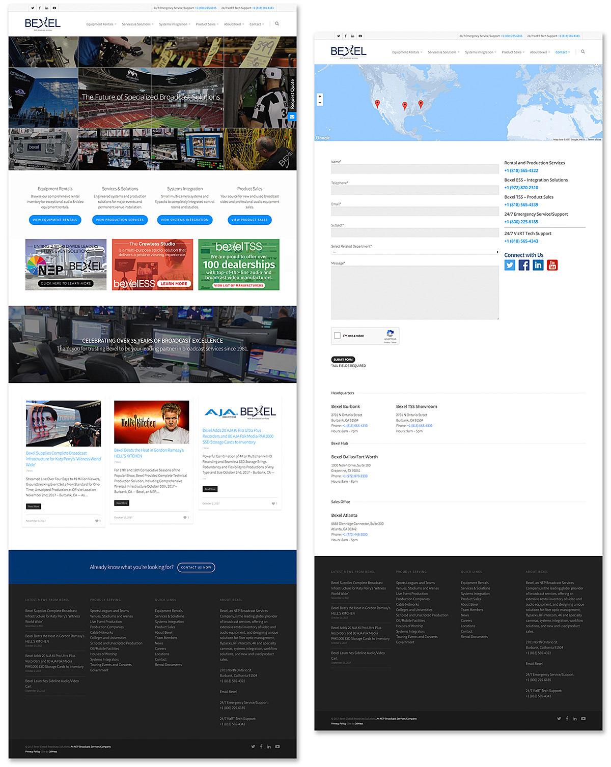 Brian Weiske - Bexel Global Broadcast Solutions | Website Design