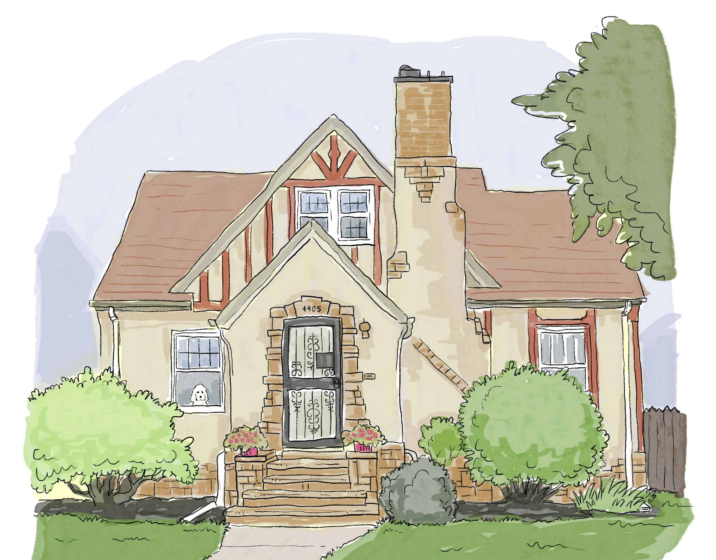 Срисовать картинки дом