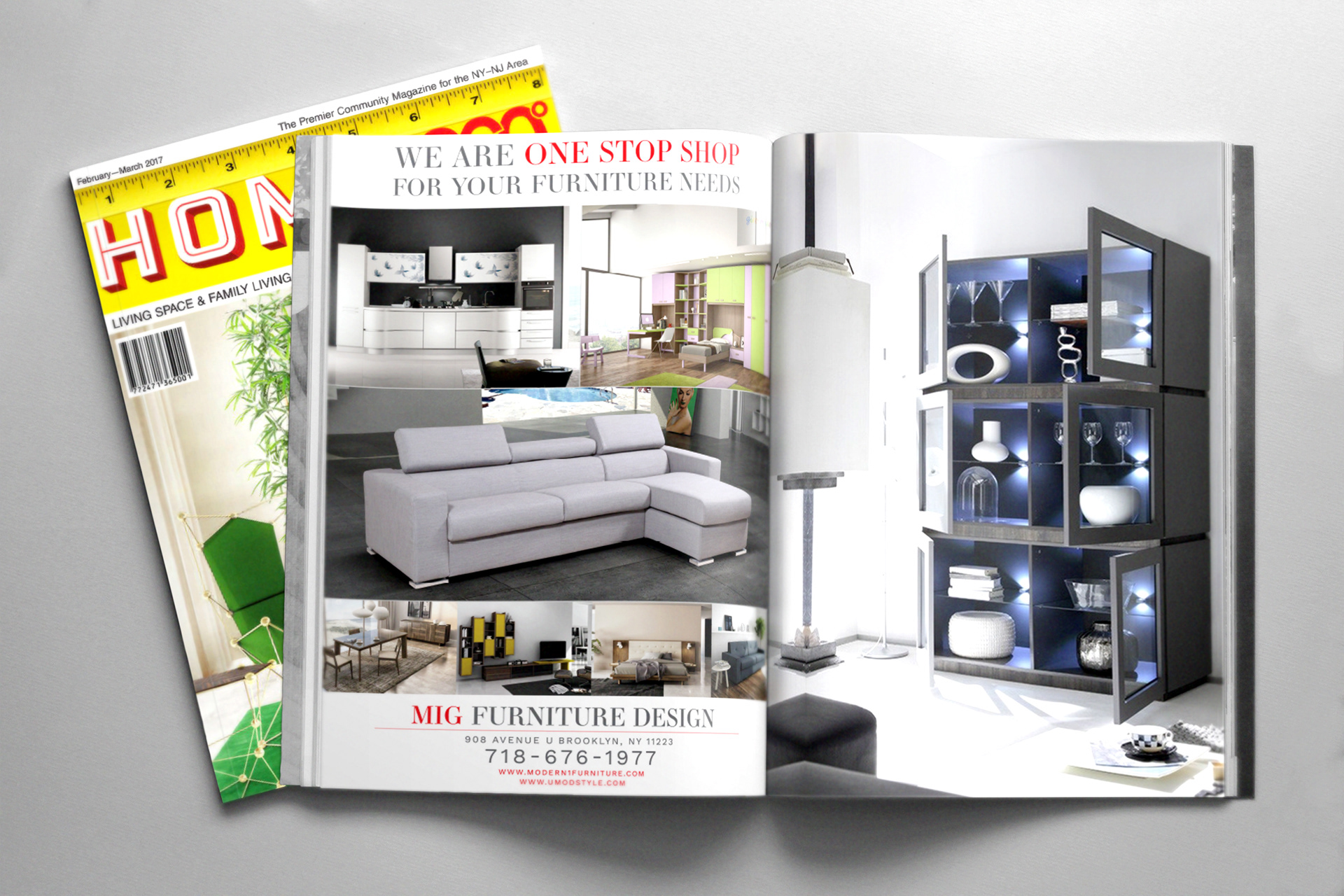 An Advertisement Layout For Furniture Company In NYC