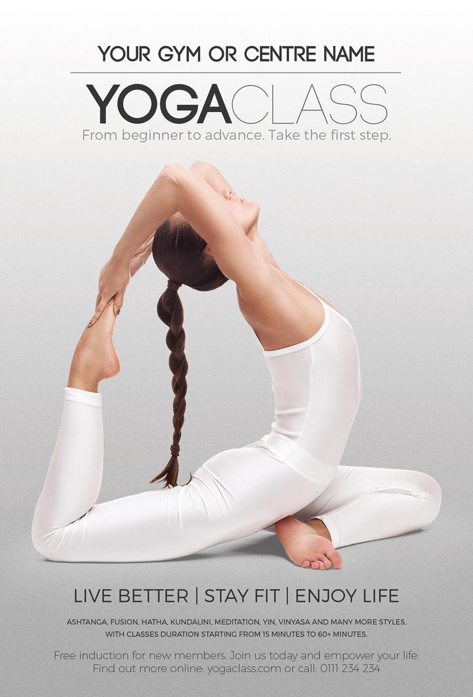 Designroom1229 Yoga Class Flyer Instagram Facebook Templates