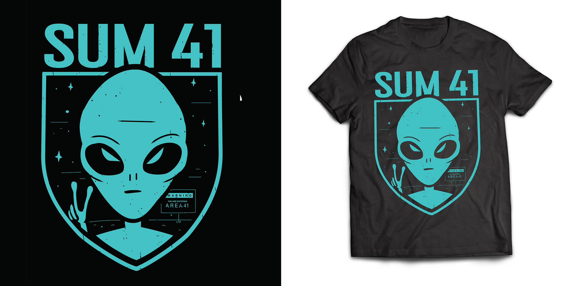 Merch designs for Sum 41